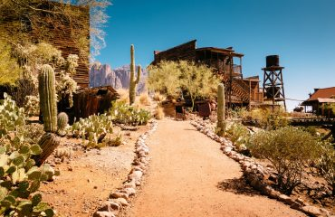 Goldfield Gold Mine Ghost Town in Youngsberg, Arizona, USA