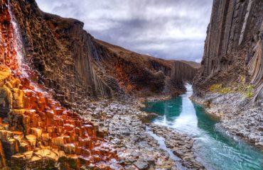 ICELAND_Studlagil basalt canyon, Iceland