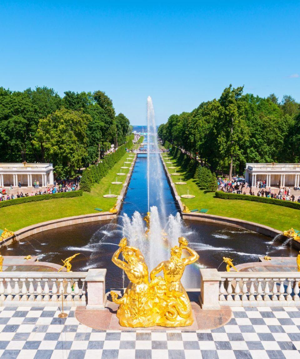 Peterhof fontány